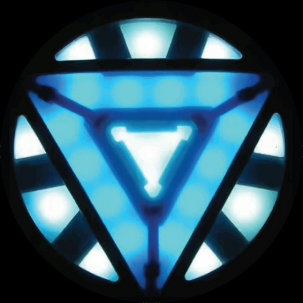 T-shirt Iron Man 3 new symbol Arc Reactor black